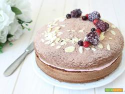 Molly cake con mousse ai frutti di bosco