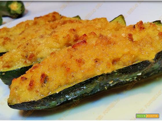 Zucchine ripiene cotte in forno