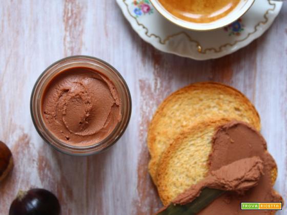Crema spalmabile di castagne cioccolato e rum