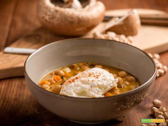 Zuppa di ceci e funghi, una sinfonia di sapori