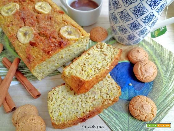Banana Bread Zucca e Amaretti Glassato Fit e Light