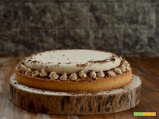 Crostata frangipane con chantilly ai marroni