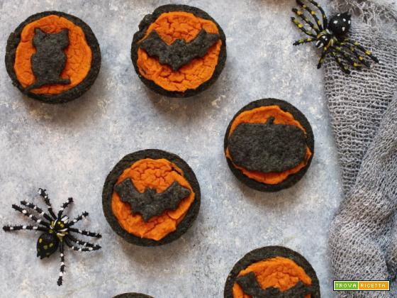 Crostatine di Halloween con patate dolci