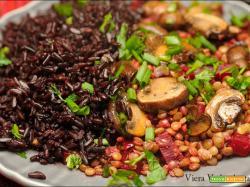 Lenticchie con rapa rossa e funghi SENZA GLUTINE