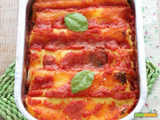 Cannelloni ricotta e gorgonzola