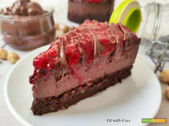 Cheesecake Vegana Cioccolato e Nocciole Senza Glutine