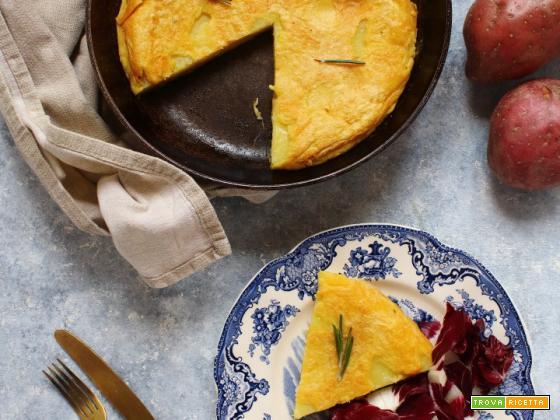 Frittata di ceci (o farifrittata) con patate e rosmarino