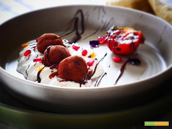 Tartufini dolci con biscotti  secchi