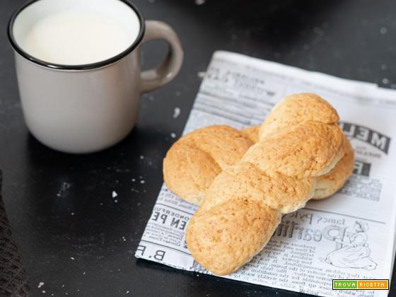 Biscotti siciliani a treccia da inzuppare