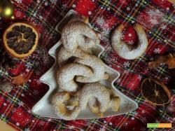 Vanillekipferl: biscotti cornetti alla vaniglia