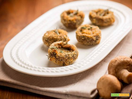 Funghi cremini al forno, un contorno croccante