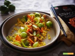Riso Curcuma e Cocco con Straccetti e verdurine al Curry