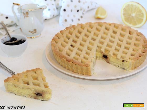 Crostata con crema al limone e ricotta