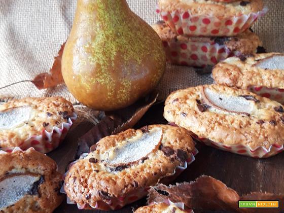 Mini plumcake al farro pera e cannella