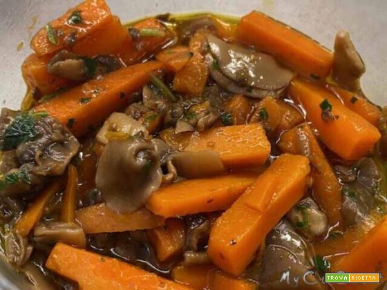 Contorno con carote e funghi – Slow Cook con Companion Moulinex
