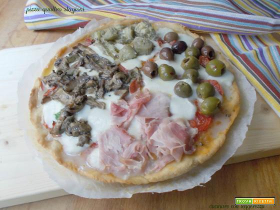 Pizza quattro stagioni – lievito madre