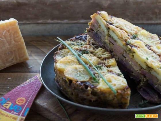 Torta con patate, Piave DOP e erbe aromatiche