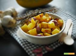 Biodiversità in cucina: Zucca Spaghetti al forno con rosmarino e aglio