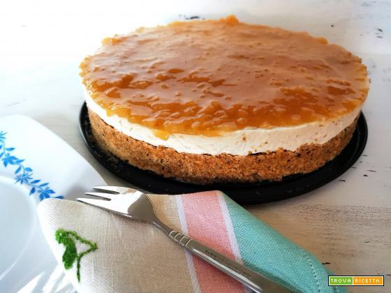 Cheesecake senza colla di pesce ma con gel di semi di lino