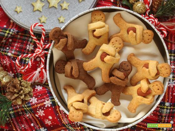 Biscotti abbracci di Natale alle mandorle