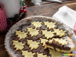 Crostata con pasta frolla al cocco e crema alle nocciole cremosissima