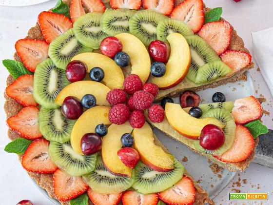 Crostata di Frutta Vegana con Crema Pasticcera