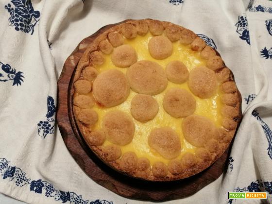 Crostata con crema e marmellata di arance