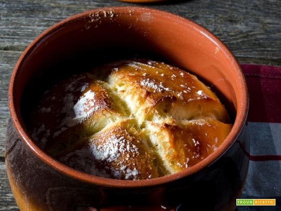 Pane di semola rimacinata cotto in pentola