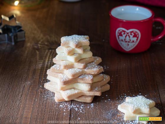 Biscotti Stelle di frolla natalizi