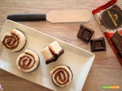 Girelle di pan carrè e cioccolato