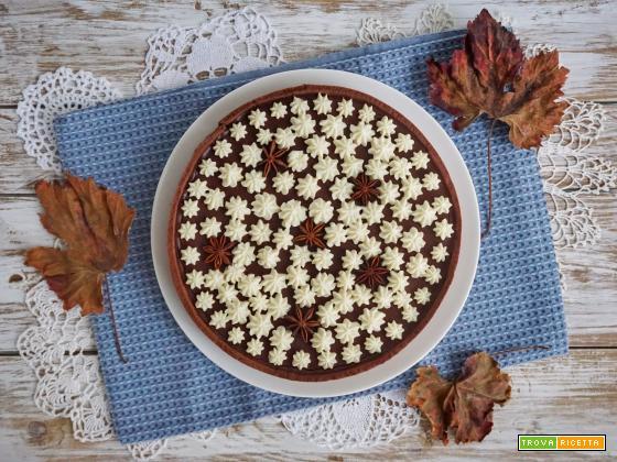 Torta sablè con ricotta e ganache al cioccolato