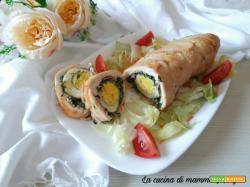 Rotolo di pollo con spinaci uova e prosciutto