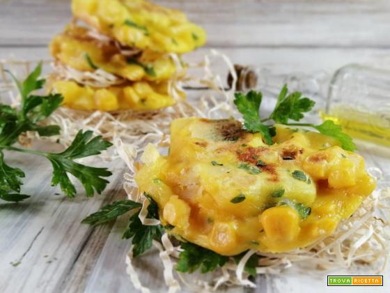 Frittatine di mais e patate