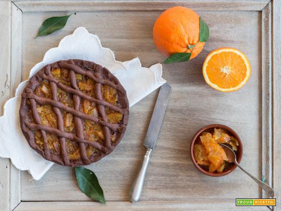 Crostata al cacao e marmellata di arance {senza glutine}
