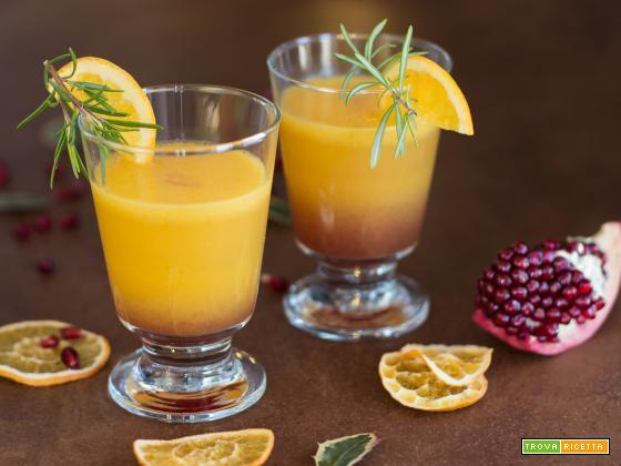 Aperitivo all'arancia e melograno, perfetto per le feste di Natale