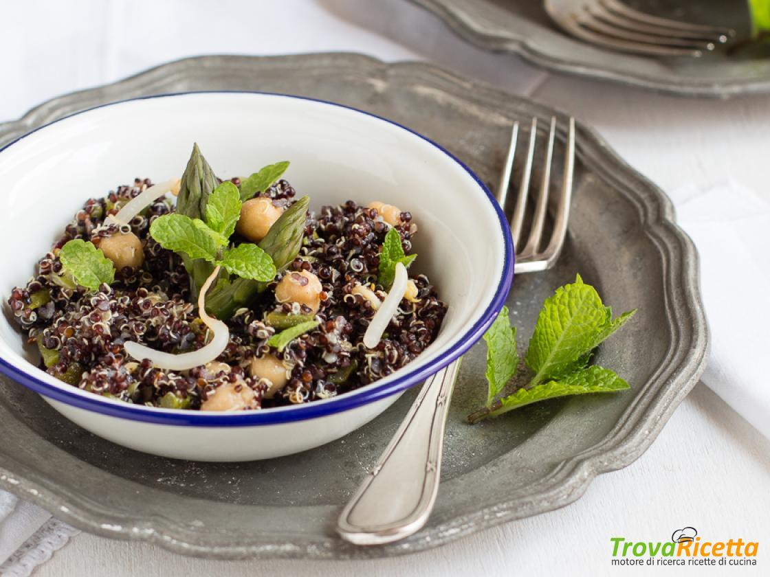 Ricetta Quinoa Nera.Quinoa Nera Con Asparagi Ceci E Germogli Di Soia Ricetta Trovaricetta Com