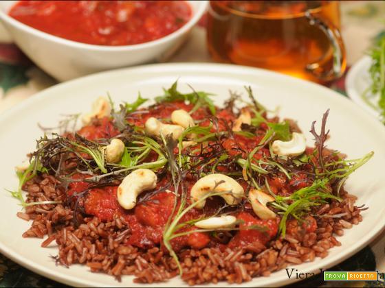 Fagioli speziati alla diavola con riso rosso