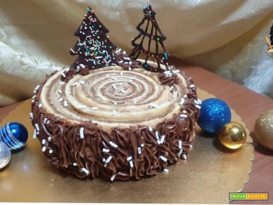 Torta con crema mousseline al caffè
