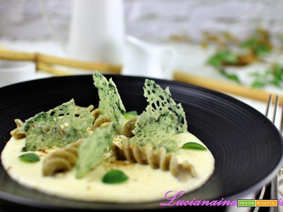 Pasta al bambù con fonduta