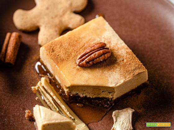 Cheesecake al Pan di Zenzero Senza Cottura | Vegan No-Bake Gingerbread Cheesecake