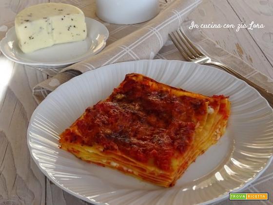 Lasagne con caciotta al tartufo