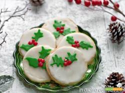 Biscotti natalizi glassati decorati