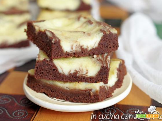 Brownies e mascarpone – Cream cheese brownies