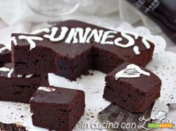 Brownies alla Guinness ai 2 cioccolati