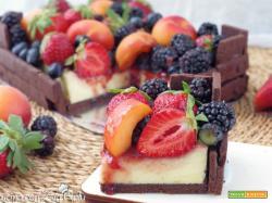 Cheesecake cassetta di frutta o torta casetta
