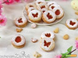 Biscotti con confettura pasquali senza burro