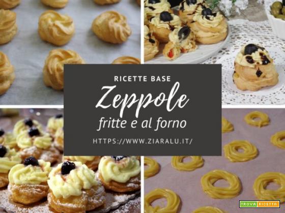 Zeppole fritte e al forno – ricetta base