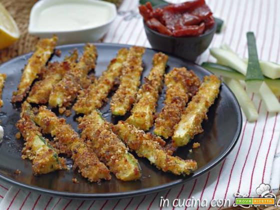 Stick di zucchine croccanti al forno veg