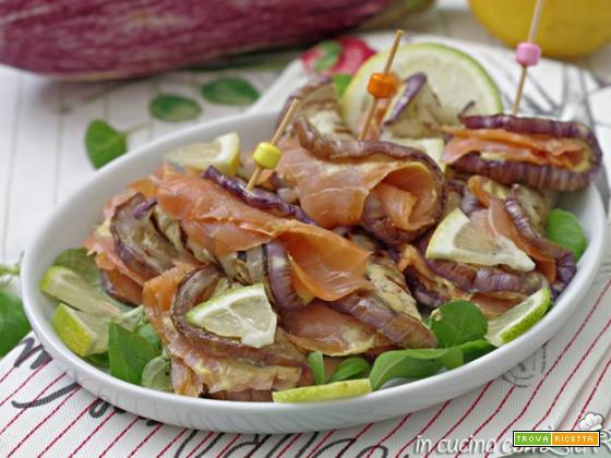 Involtini di melanzane al salmone – ricetta light
