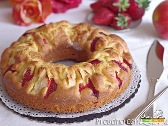 Ciambella senza glutine mele e fragole